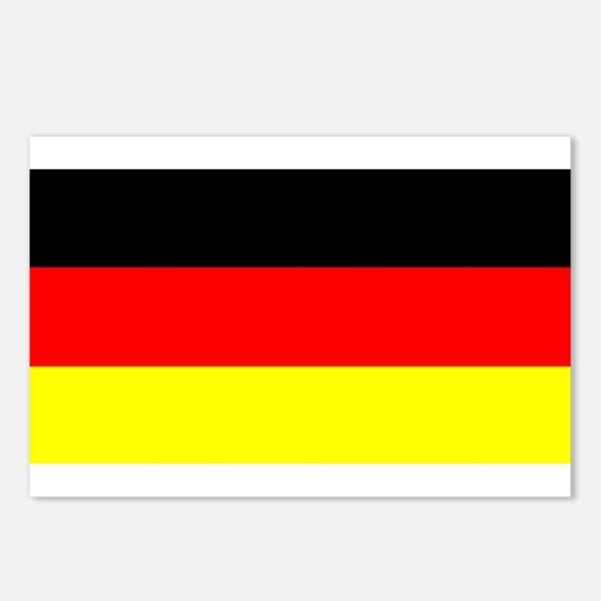 Flag Germany Postcards (Package of 8)