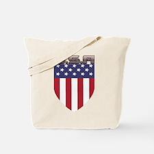 Patriotic American Flag Shield Tote Bag