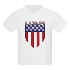 Patriotic American Flag Shield T-Shirt