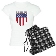 Patriotic American Flag Shield Pajamas