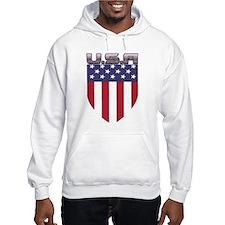 Patriotic American Flag Shield Hoodie