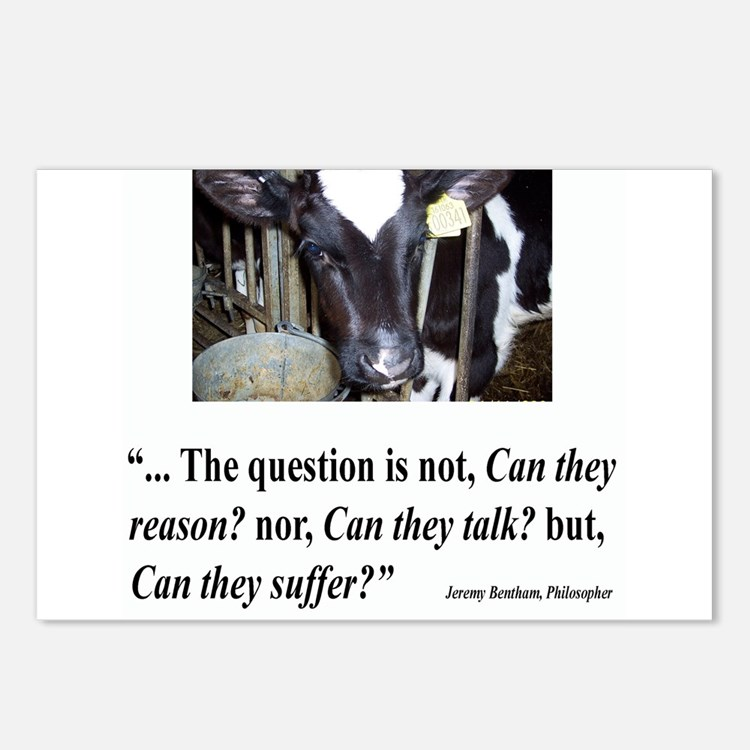 Cute Factory farming Postcards (Package of 8)