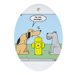 Dog Messaging Ornament (Oval)