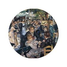 """Bal du moulin de la Galette 3.5"""" Button (100 pack)"""