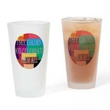 I See Colors Drinking Glass