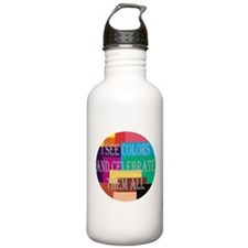 I See Colors Stainless Water Bottle 1.0L