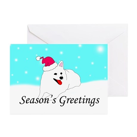 American Eskimo Santa Greeting Cards (Pk of 10)