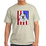 English Bulldog Made in the U Ash Grey T-Shirt