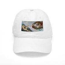 The Creation of Adam by Michelangelo Baseball Baseball Cap