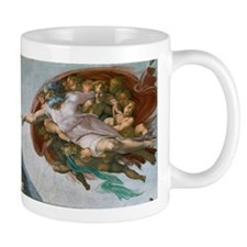 The Creation of Adam by Michelangelo Mugs