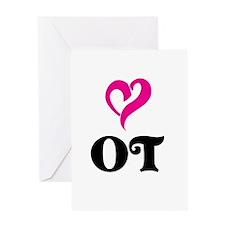 OT LOVE Greeting Cards