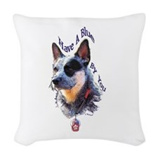 """""""Blue By You"""" Woven Throw Pillow"""