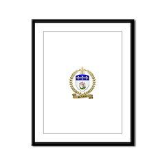 ST. COEUR Family Crest Framed Panel Print