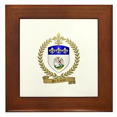 ST. COEUR Family Crest Framed Tile