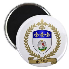 ST. COEUR Family Crest Magnet