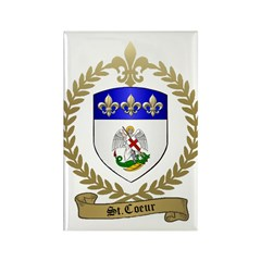 ST. COEUR Family Crest Rectangle Magnet (10 pack)