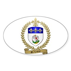 ST. COEUR Family Crest Oval Decal