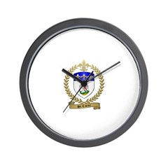 ST. COEUR Family Crest Wall Clock