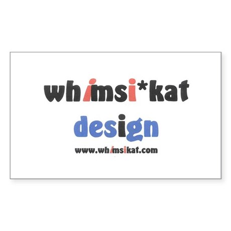 Whimsikat Rectangle Sticker