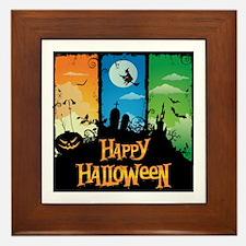 Happy Halloween Framed Tile