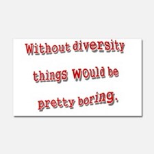 Without Diversity.png Car Magnet 20 x 12