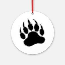 GAY BEAR PRIDE Gay Bear Paw Ornament (Round)