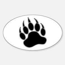 GAY BEAR PRIDE Gay Bear Paw Sticker (Oval)