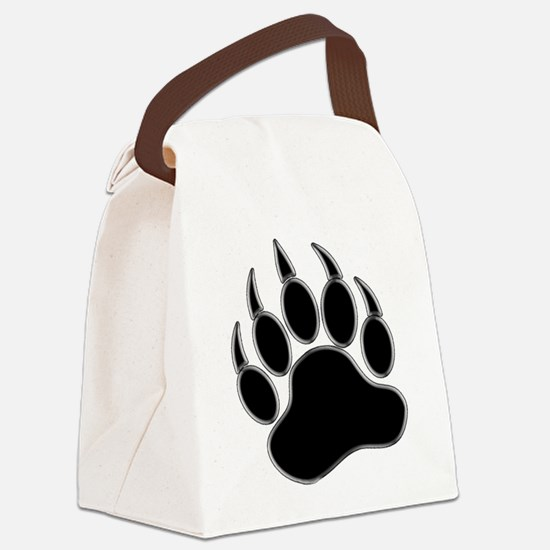 GAY BEAR PRIDE Gay Bear Paw Canvas Lunch Bag