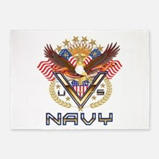 Navy Military Veteran 5'x7'Area Rug