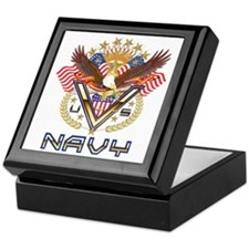 Navy Military Veteran Keepsake Box