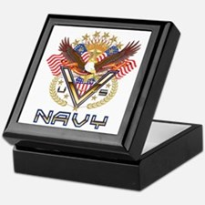 Navy Military Veteran Keepsake Box