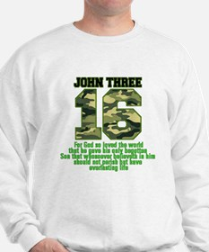 JOHN 316 Bible Camo Sweatshirt