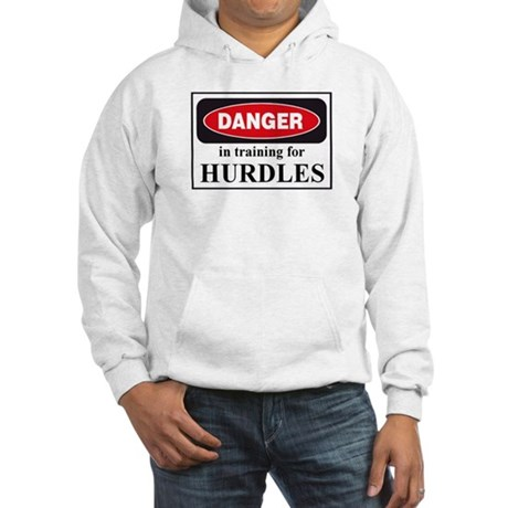 Hurdles Danger Sign Hooded Sweatshirt