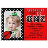 Ladybug first birthday 5 x 7 Flat Cards