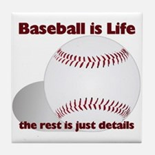 Baseball is Life Tile Coaster