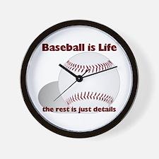 Baseball is Life Wall Clock