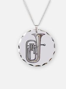 euphonium brass instrument music realistic Necklac