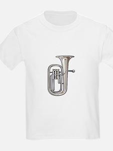 euphonium brass instrument music realistic T-Shirt