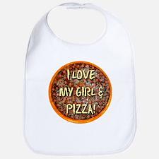 I Love My Girl & Pizza Bib