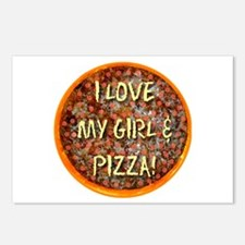 I Love My Girl & Pizza Postcards (Package of 8)