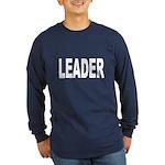 Leader (Front) Long Sleeve Dark T-Shirt