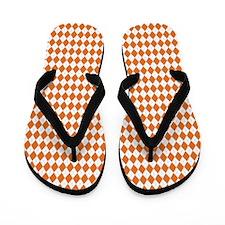 Clemson Orange Argyle Flip Flops