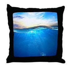 Underwater Ocean Throw Pillow