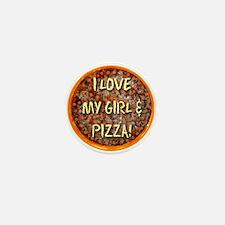 I Love My Girl & Pizza Mini Button