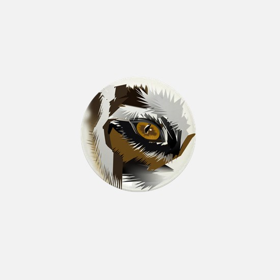 tiger eye search for love Mini Button