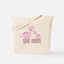 Little Sister Dinosaur Tote Bag