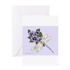 Dragonfly & Pansy Greeting Cards