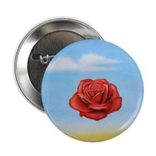 "Meditative Rose 2.25"" Button"