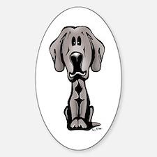 Weimaraner Puppy Oval Decal