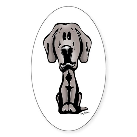 Weimaraner puppy oval decal by serendipity1 for Weimaraner coloring pages